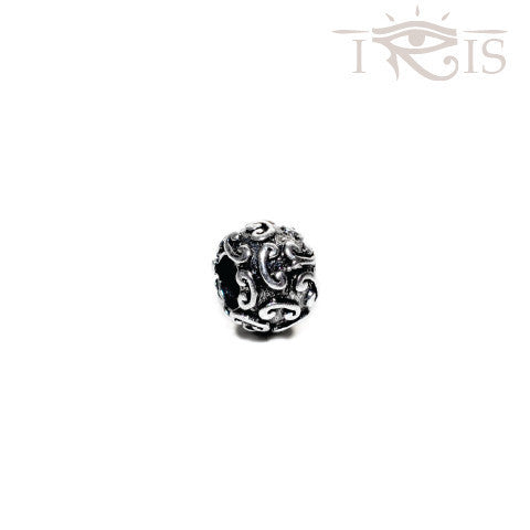 Caroline - Silvertone Ionic Silver Filled Charm from IRIS