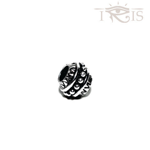 Carolyn - Silvertone Kings Crown Silver Filled Charm from IRIS