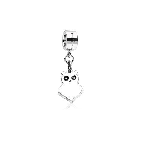 Pigwidgeon - Silvertone Owl Rhodium Filled Charm from IRIS