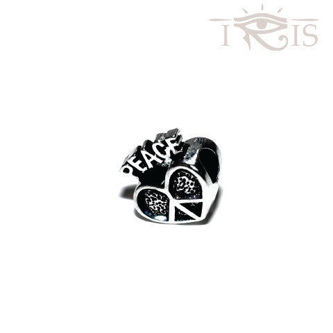 Bonnie - Silvertone Peace & Love Silver Filled Charm from IRIS