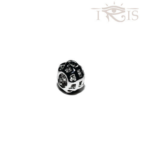 Alla - Silvertone Royal Weave Rhodium Filled Charm from IRIS