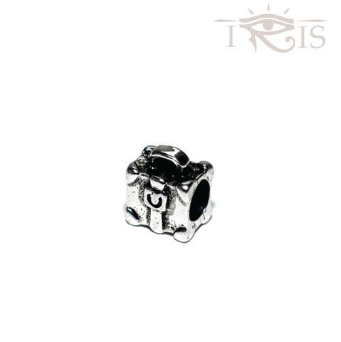 Pia - Silvertone Travel Suitcase Rhodium Filled Charm from IRIS