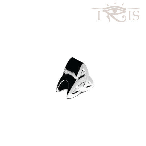 Annette - Silvertone Trinity Knot  Rhodium Filled Charm from IRIS