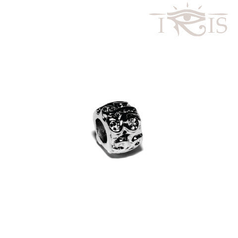 Allison - Silvertone Triple Goddess Rhodium Filled Charm from IRIS