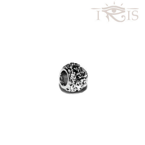Angelin - Silvertone Wind Swirl Rhodium Filled Charm from IRIS