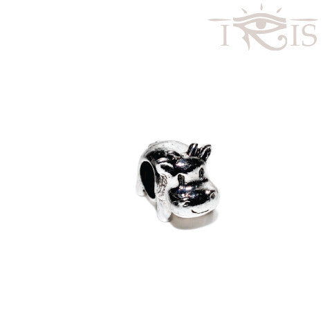 Casey - Silvertone  Moo Cow Silver Filled Charm from IRIS