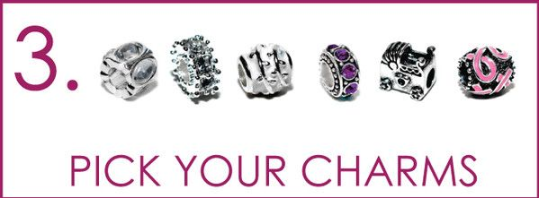 Choose Your Silver and Rhodium Charm Baubles