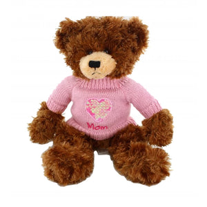 Brandon Chocolate Mom Sweater Bear 12""