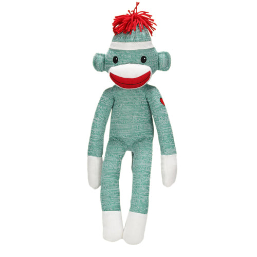 Sock Monkey Stuffed Animal Green