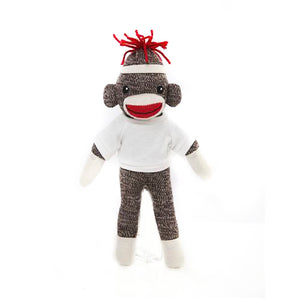 Sock monkey with shirt