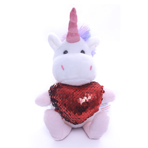 Unicorn with Red heart