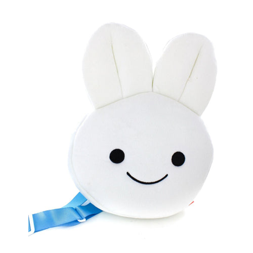 Blue Bunny plush Face Backpack
