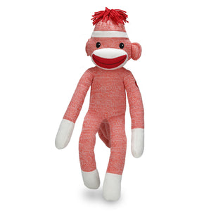 Sock Monkey Stuffed Animal Reddish