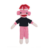 Sock Monkey Pink with Tee 8""