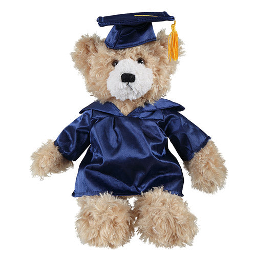 Soft Plush Beige Brandon Teddy Bear in Graduation Cap & Gown Stuffed Animal