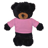 Soft Plush Black Teddy Bear with Tee