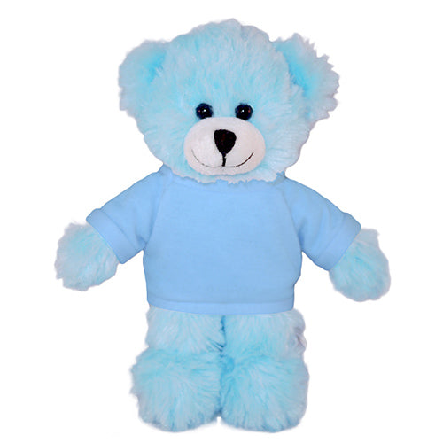 Soft Plush Blue Teddy Bear with Tee