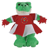 Soft Plush Stuffed Alligator with Cheerleader Outfit