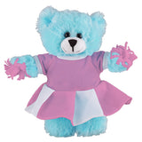Soft Plush Stuffed Blue Teddy Bear with Cheerleader Outfit