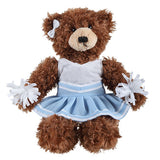 Soft Plush Stuffed Brandon Chocolate Teddy Bear with Cheerleader Outfit