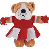 Soft Plush Stuffed Bulldog with Cheerleader Outfit