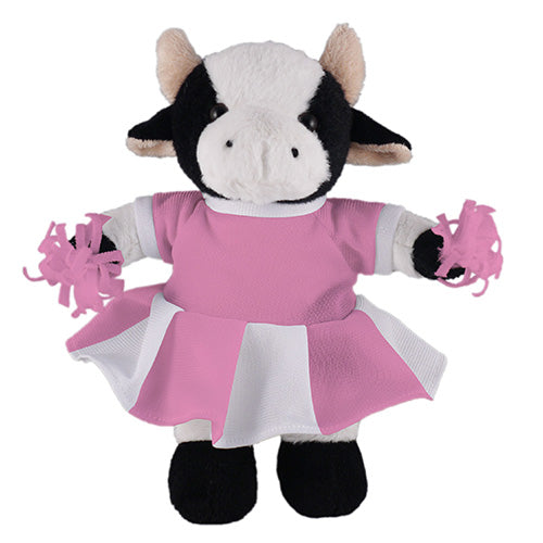 Soft Plush Stuffed Cow with Cheerleader Outfit