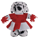 Soft Plush Stuffed Dalmatian with Cheerleader Outfit