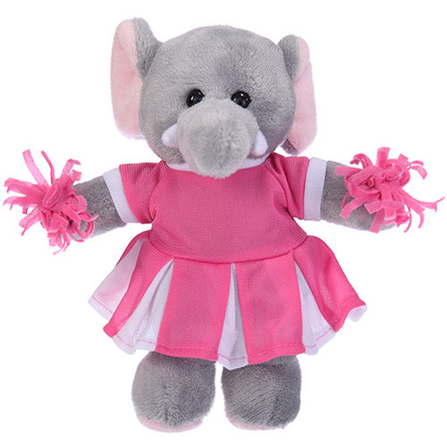 Soft Plush Stuffed Elephant with Cheerleader Outfit