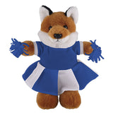 Soft Plush Stuffed Fox with Cheerleader Outfit