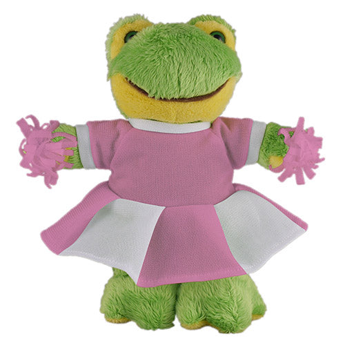 Soft Plush Stuffed Frog with Cheerleader Outfit