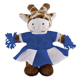 Soft Plush Stuffed Giraffe with Cheerleader Outfit
