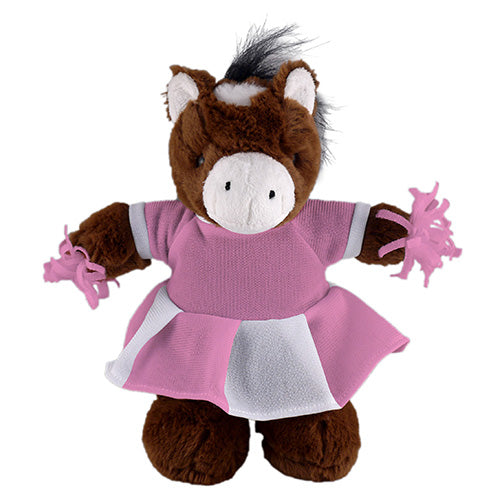 Soft Plush Stuffed Horse with Cheerleader Outfit