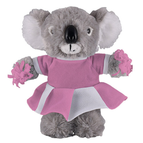 Soft Plush Stuffed Koala with Cheerleader Outfit