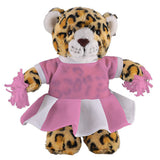 Soft Plush Stuffed Leopard with Cheerleader Outfit