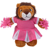 Soft Plush Stuffed Lion with Cheerleader Outfit
