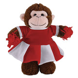 Soft Plush Stuffed Monkey with Cheerleader Outfit
