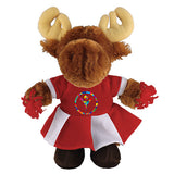 Soft Plush Stuffed Moose with Cheerleader Outfit