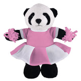 Soft Plush Stuffed Panda with Cheerleader Outfit