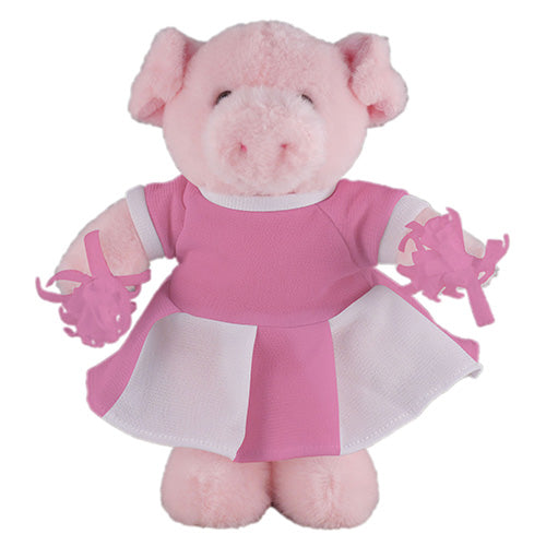 Soft Plush Stuffed Pig with Cheerleader Outfit