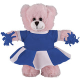 Soft Plush Stuffed Pink Teddy Bear with Cheerleader Outfit