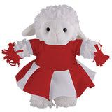 Soft Plush Stuffed Sheep with Cheerleader Outfit
