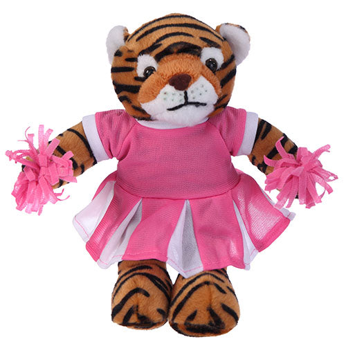 Soft Plush Stuffed Tiger with Cheerleader Outfit
