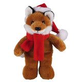 Soft Plush Stuffed Fox with Christmas Hat and Scarf