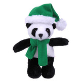 Soft Plush Stuffed Panda with Christmas Hat and Scarf