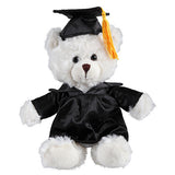 Soft Plush Cream Sitting Teddy Bear in Graduation Cap & Gown Stuffed Animal