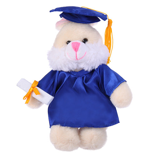 Soft Plush Bunny with Graduation Cap and Gown
