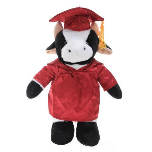 Soft Plush Cow in Graduation Cap & Gown Stuffed Animal