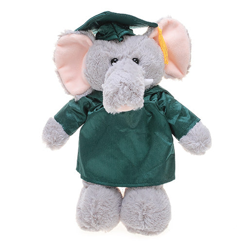 Soft Plush Elephant in Graduation Cap & Gown Stuffed Animal