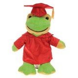 Soft Plush Frog in Graduation Cap & Gown Stuffed Animal