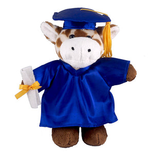 Soft Plush Giraffe in Graduation Cap & Gown Stuffed Animal